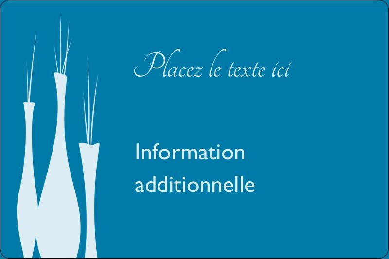 """2"""" x 3"""" Étiquettes rectangulaires - Vase design d'intérieur"""