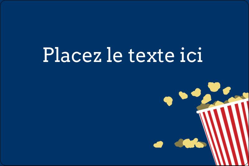 """2"""" x 3"""" Étiquettes rectangulaires - Popcorn et film"""