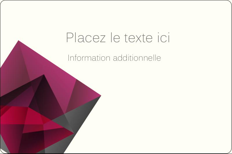"""2"""" x 3"""" Étiquettes rectangulaires - Pierres de rubis"""