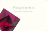 Pierres de rubis  Étiquettes rectangulaires - gabarit prédéfini. <br/>Utilisez notre logiciel Avery Design & Print Online pour personnaliser facilement la conception.