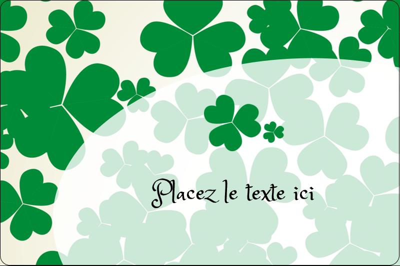 """2"""" x 3"""" Étiquettes rectangulaires - Arrière-plan de trèfles de la Saint-Patrick"""