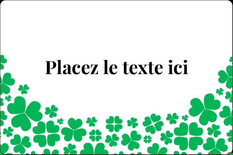 """2"""" x 3"""" Étiquettes rectangulaires - Pluie de trèfles de la Saint-Patrick"""