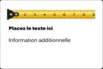 Ruban à mesurer Étiquettes rectangulaires - gabarit prédéfini. <br/>Utilisez notre logiciel Avery Design & Print Online pour personnaliser facilement la conception.