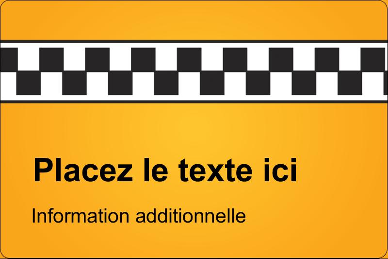 """2"""" x 3"""" Étiquettes rectangulaires - Échiquier taxi"""
