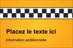 Échiquier taxi Étiquettes rectangulaires - gabarit prédéfini. <br/>Utilisez notre logiciel Avery Design & Print Online pour personnaliser facilement la conception.