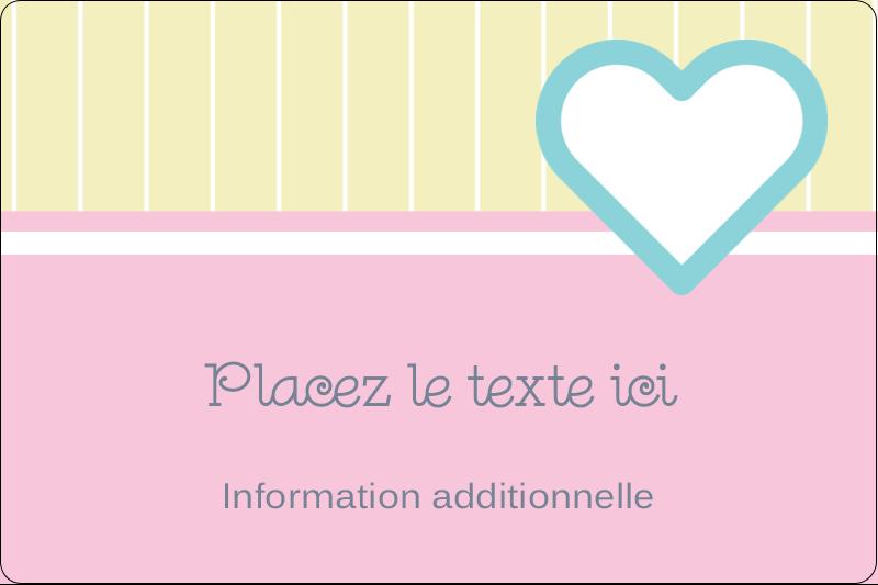 """2"""" x 3"""" Étiquettes rectangulaires - Cœur bleu"""