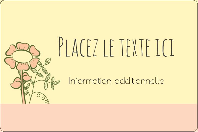 """2"""" x 3"""" Étiquettes rectangulaires - Dessin floral"""