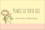 Dessin floral Étiquettes rectangulaires - gabarit prédéfini. <br/>Utilisez notre logiciel Avery Design & Print Online pour personnaliser facilement la conception.