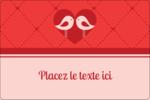 Oiseaux amoureux Étiquettes rectangulaires - gabarit prédéfini. <br/>Utilisez notre logiciel Avery Design & Print Online pour personnaliser facilement la conception.