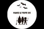 Enfants à l'Halloween Étiquettes rondes gaufrées - gabarit prédéfini. <br/>Utilisez notre logiciel Avery Design & Print Online pour personnaliser facilement la conception.