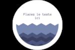 Chevron bleu Étiquettes rondes gaufrées - gabarit prédéfini. <br/>Utilisez notre logiciel Avery Design & Print Online pour personnaliser facilement la conception.