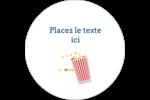 Popcorn et film Étiquettes rondes gaufrées - gabarit prédéfini. <br/>Utilisez notre logiciel Avery Design & Print Online pour personnaliser facilement la conception.