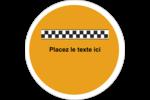 Échiquier taxi Étiquettes rondes gaufrées - gabarit prédéfini. <br/>Utilisez notre logiciel Avery Design & Print Online pour personnaliser facilement la conception.