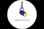 Projecteur sur fond bleu Étiquettes rondes gaufrées - gabarit prédéfini. <br/>Utilisez notre logiciel Avery Design & Print Online pour personnaliser facilement la conception.