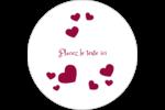 Bulles de Saint-Valentin Étiquettes rondes gaufrées - gabarit prédéfini. <br/>Utilisez notre logiciel Avery Design & Print Online pour personnaliser facilement la conception.