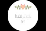 Dessin floral Étiquettes rondes gaufrées - gabarit prédéfini. <br/>Utilisez notre logiciel Avery Design & Print Online pour personnaliser facilement la conception.