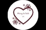 Guingan de la Saint-Valentin Étiquettes rondes gaufrées - gabarit prédéfini. <br/>Utilisez notre logiciel Avery Design & Print Online pour personnaliser facilement la conception.