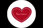 Cœur de Saint-Valentin Étiquettes rondes gaufrées - gabarit prédéfini. <br/>Utilisez notre logiciel Avery Design & Print Online pour personnaliser facilement la conception.