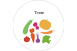 Panier de légumes Étiquettes rondes gaufrées - gabarit prédéfini. <br/>Utilisez notre logiciel Avery Design & Print Online pour personnaliser facilement la conception.