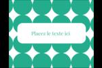 Cercles vert sarcelle Étiquettes rectangulaires - gabarit prédéfini. <br/>Utilisez notre logiciel Avery Design & Print Online pour personnaliser facilement la conception.