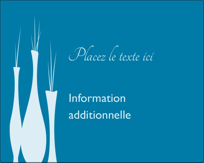 """3"""" x 3¾"""" Étiquettes rectangulaires - Vase design d'intérieur"""