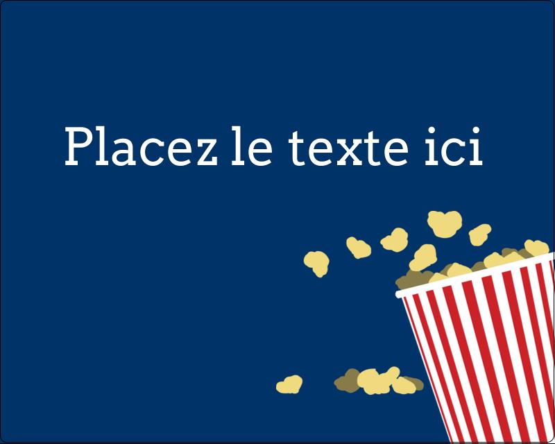 """3"""" x 3¾"""" Étiquettes rectangulaires - Popcorn et film"""