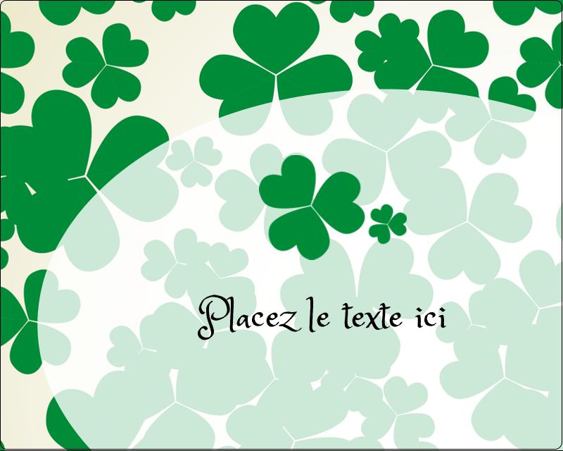"""3"""" x 3¾"""" Étiquettes rectangulaires - Arrière-plan de trèfles de la Saint-Patrick"""