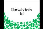 Pluie de trèfles de la Saint-Patrick Étiquettes rectangulaires - gabarit prédéfini. <br/>Utilisez notre logiciel Avery Design & Print Online pour personnaliser facilement la conception.