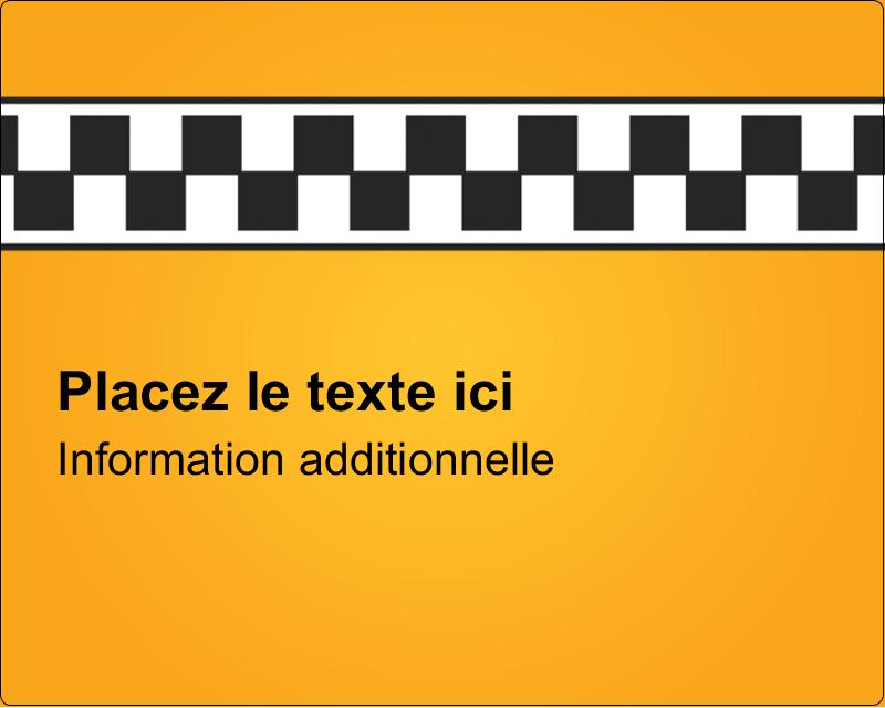"""3"""" x 3¾"""" Étiquettes rectangulaires - Échiquier taxi"""