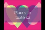 Rang de cœurs de la Saint-Valentin Étiquettes rectangulaires - gabarit prédéfini. <br/>Utilisez notre logiciel Avery Design & Print Online pour personnaliser facilement la conception.