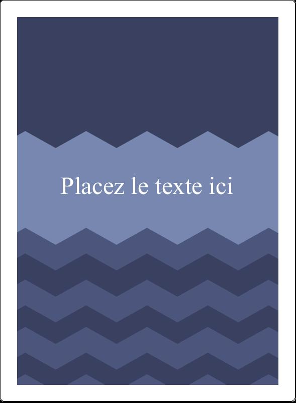 """4¾"""" x 3½"""" Étiquettes rectangulaires - Chevron bleu"""