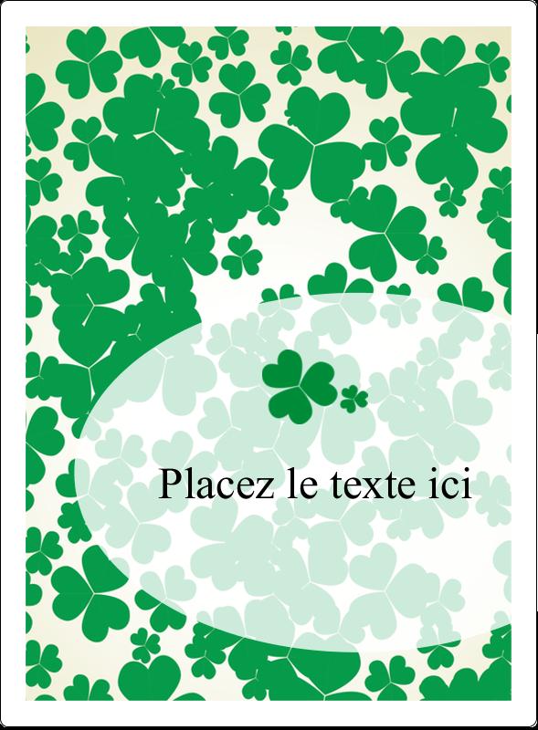 """4¾"""" x 3½"""" Étiquettes rectangulaires - Arrière-plan de trèfles de la Saint-Patrick"""