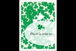 Arrière-plan de trèfles de la Saint-Patrick Étiquettes rectangulaires - gabarit prédéfini. <br/>Utilisez notre logiciel Avery Design & Print Online pour personnaliser facilement la conception.