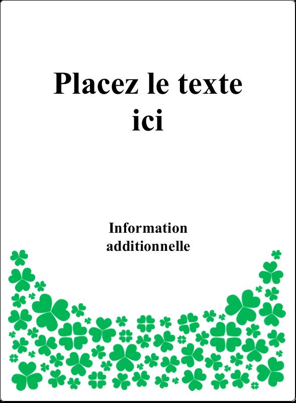 """4¾"""" x 3½"""" Étiquettes rectangulaires - Pluie de trèfles de la Saint-Patrick"""