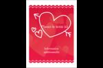 Dessin de la Saint-Valentin Étiquettes rectangulaires - gabarit prédéfini. <br/>Utilisez notre logiciel Avery Design & Print Online pour personnaliser facilement la conception.
