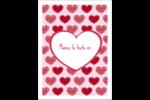 Cœur de Saint-Valentin Étiquettes rectangulaires - gabarit prédéfini. <br/>Utilisez notre logiciel Avery Design & Print Online pour personnaliser facilement la conception.