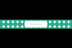 Cercles vert sarcelle Étiquettes enveloppantes - gabarit prédéfini. <br/>Utilisez notre logiciel Avery Design & Print Online pour personnaliser facilement la conception.