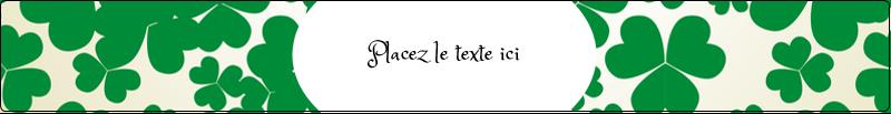 """9¾"""" x 1¼"""" Étiquettes enveloppantes - Arrière-plan de trèfles de la Saint-Patrick"""
