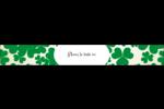 Arrière-plan de trèfles de la Saint-Patrick Étiquettes enveloppantes - gabarit prédéfini. <br/>Utilisez notre logiciel Avery Design & Print Online pour personnaliser facilement la conception.