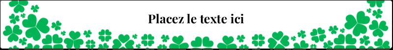 """9¾"""" x 1¼"""" Étiquettes enveloppantes - Pluie de trèfles de la Saint-Patrick"""
