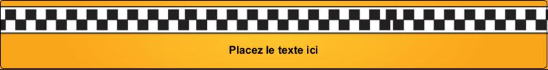 """9¾"""" x 1¼"""" Étiquettes enveloppantes - Échiquier taxi"""
