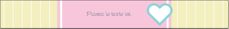 """9¾"""" x 1¼"""" Étiquettes enveloppantes - Cœur bleu"""