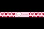 Cœur de Saint-Valentin Étiquettes enveloppantes - gabarit prédéfini. <br/>Utilisez notre logiciel Avery Design & Print Online pour personnaliser facilement la conception.