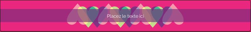 """9¾"""" x 1¼"""" Étiquettes enveloppantes - Rang de cœurs de la Saint-Valentin"""