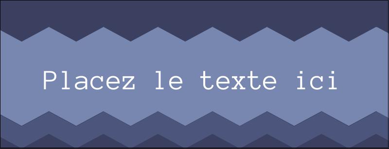 """1-7/16"""" x 3¾"""" Affichette - Chevron bleu"""