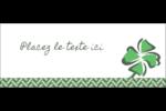 Trèfle de la Saint-Patrick Affichette - gabarit prédéfini. <br/>Utilisez notre logiciel Avery Design & Print Online pour personnaliser facilement la conception.