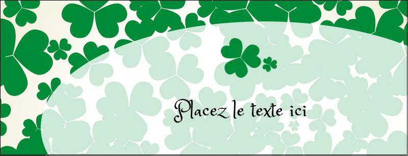 """1-7/16"""" x 3¾"""" Affichette - Arrière-plan de trèfles de la Saint-Patrick"""
