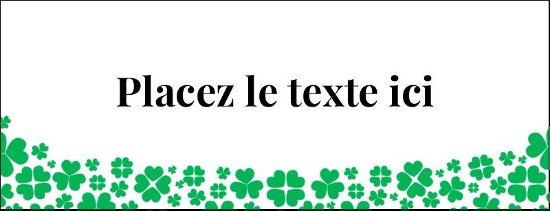 """1-7/16"""" x 3¾"""" Affichette - Pluie de trèfles de la Saint-Patrick"""