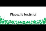 Pluie de trèfles de la Saint-Patrick Affichette - gabarit prédéfini. <br/>Utilisez notre logiciel Avery Design & Print Online pour personnaliser facilement la conception.