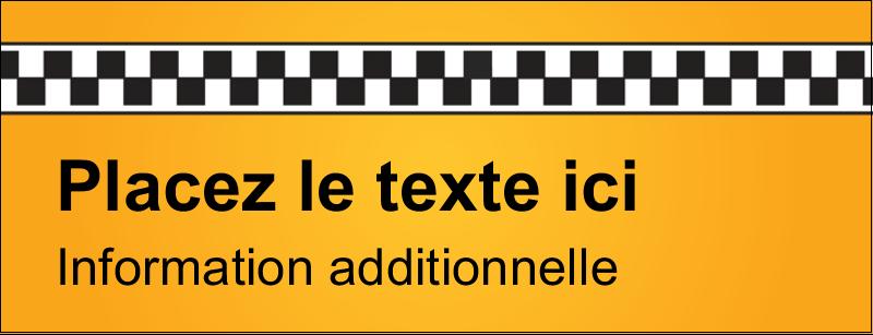 """1-7/16"""" x 3¾"""" Affichette - Échiquier taxi"""